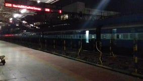 Raiway station för Indien dhanbad Royaltyfri Fotografi