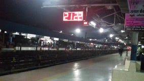 Raiway station för Indien dhanbad Arkivbilder