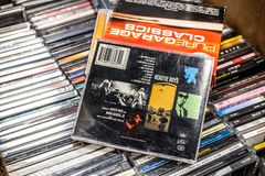Raiz do ?lbum do CD de Beastie Boys abaixo de 1995 na exposi??o para a venda, grupo americano famoso do hip-hop foto de stock royalty free