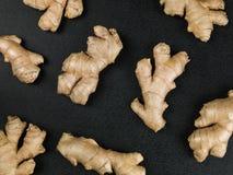 Raiz fresca Ginger Aromatic Spices imagem de stock royalty free