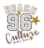 Raj długa plażowa sztuka Zdjęcia Royalty Free