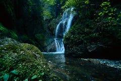 Raj dżungli las z piękną siklawą w zielonym bujny Erawan park w Kanchanaburi, Tajlandia Szmaragdowy staw i Fotografia Royalty Free