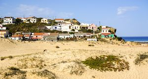 Raj dla surfingowów w Alentejo terenie, Portugalia Zdjęcie Stock