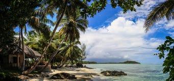 Raj domowa panorama, ÃŽle aux Nattes, Madagascar Obraz Royalty Free