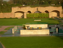 Raj Ghat. In Delhi the site of Mahatma Gandhi's cremation Royalty Free Stock Photos