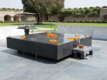 Raj Ghat, Mahatma Gandhi. Raj Ghat, a memorial to Mahatma Gandhi is a simple black marble platform that marks the spot of his cremation Royalty Free Stock Images