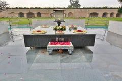 Raj Ghat memorial. Delhi. India. Raj Ghat is a memorial to Mahatma Gandhi. It is a black marble platform that marks the spot of Mahatma Gandhi's cremation royalty free stock images
