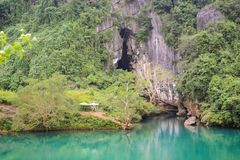 Raj jama przy Phong Ke uderzenia parkiem narodowym, UNESCO światowego dziedzictwa miejsce w Quang Binh prowincji, Wietnam zdjęcia royalty free