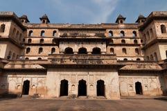 Raj Mahal-Palast in Orchha stockfotos