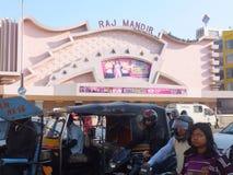 Raj Mandir Cinema in Jaipur, India Royalty Free Stock Photos