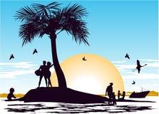 Raj na wyspie Zdjęcie Stock