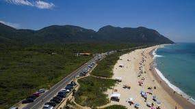 Raj plaża, piękna plaża, cudowne plaże dookoła świata, Grumari plaża, Rio De Janeiro, Brazylia, Ameryka Południowa Brazylia obrazy royalty free
