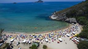 Raj plaża, piękna plaża, cudowne plaże dookoła świata, Grumari plaża, Rio De Janeiro, Brazylia, Ameryka Południowa Brazylia fotografia royalty free