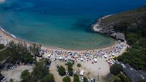 Raj plaża, piękna plaża, cudowne plaże dookoła świata, Grumari plaża, Rio De Janeiro, Brazylia, Ameryka Południowa Brazylia zdjęcie stock