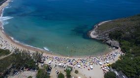 Raj plaża, piękna plaża, cudowne plaże dookoła świata, Grumari plaża, Rio De Janeiro, Brazylia, Ameryka Południowa Brazylia zdjęcie royalty free