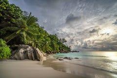 Raj plaża przy anse georgette, praslin, Seychelles 13 fotografia royalty free