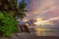 Raj plaża przy anse georgette, praslin, Seychelles 50 fotografia royalty free