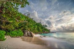 Raj plaża przy anse georgette, praslin, Seychelles 22 obraz stock