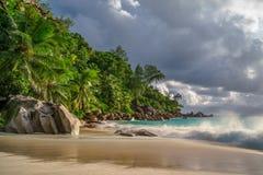 Raj plaża przy anse georgette, praslin, Seychelles 38 zdjęcia stock