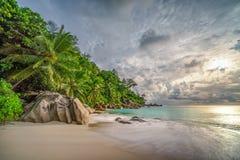 Raj plaża przy anse georgette, praslin, Seychelles 15 zdjęcie royalty free