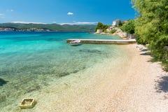 Raj plaża w Orebic w Peljesac półwysepie, Dalmatia, Chorwacja fotografia stock