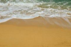 Raj plaża, złoty piasek i szmaragd woda, zdjęcie royalty free