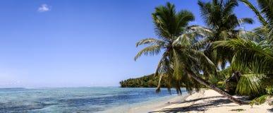 Raj Plażowa panorama, ÃŽle Sainte-Marie, Madagascar Obrazy Royalty Free