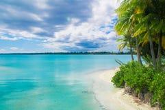 Raj plaża zdjęcie stock