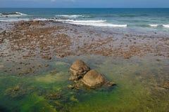 Raj plaża Zdjęcia Stock