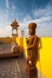 Raj Servant Statue Stock Photo