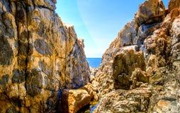 Raj skały na plaży Zdjęcia Royalty Free