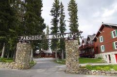 Raj stróżówka i bungalowy, Alberta, Kanada Obrazy Royalty Free