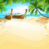 Raj wyspa ilustracja wektor