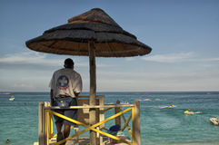 Raj wyspy Nassau plaża Fotografia Royalty Free