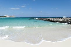 Raj wyspy plaży fala Zdjęcia Royalty Free