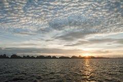 Raja Ampat incredible sunset in Papua Royalty Free Stock Images