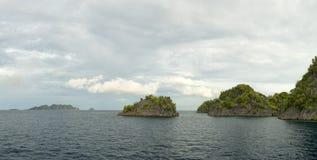 Raja Ampat Papua huge panorama landscape Stock Photography