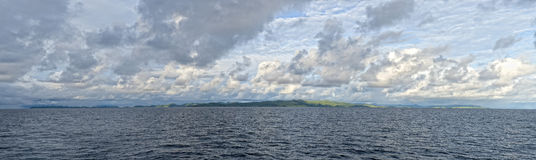 Raja Ampat Papua huge panorama landscape Royalty Free Stock Images