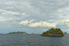 Raja Ampat Papua huge panorama landscape Royalty Free Stock Photos