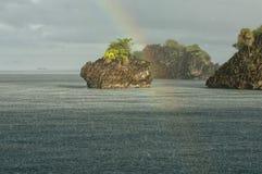Raja Ampat Papua Indonesia enormt panoramalandskap Arkivbild