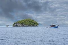 Raja Ampat Papua Indonesia huge panorama landscape Royalty Free Stock Images