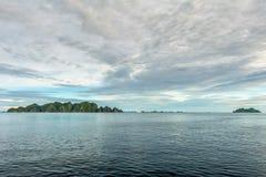 Raja Ampat Papua Indonesia huge panorama landscape Stock Image