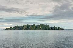 Raja Ampat Papua Indonesia huge panorama landscape Royalty Free Stock Photo
