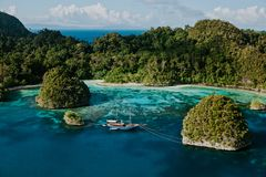 Raja Ampat View from above royalty free stock photography