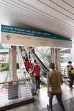 Raja Chulan monorail station in Kuala Lumpur, Malaysia Royalty Free Stock Photography