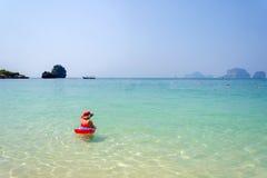 Raja Kłaść plażę, Krabi, Tajlandia Zdjęcia Stock