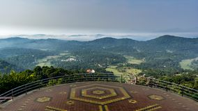 Raja`s seat in Madikeri - just after sunrise stock photography
