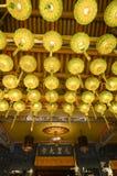 Raja Uda, Penang/Μαλαισία - τον Ιανουάριο του 2016 CIRCA: Κίτρινο φανάρι στο θόριο Στοκ Εικόνες