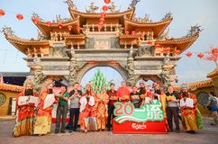 Raja Uda Penang/Malaysia - CIRCA JANUARI 2016: Sponsor av Carlsberg Arkivfoto