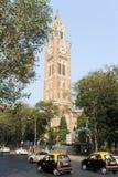 Rajabai塔-历史的钟楼,孟买,印度 库存照片